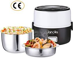 Janolia <b>Electric Lunch</b> Box, <b>Portable</b> Food Lunch Heater, Mini Rice ...