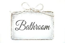 Bathroom sign for home Etsy Photo Of Cute Handmade Wooden Bathroom Door Sign Home Decor Signs For Bathro Cute Bathroom Signs Everywearme Bathroom Signs For The Home Door Vintage Funny Hom Ecmom