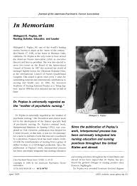 PDF) Hildegard E. Peplau, 89 Nursing Scholar, Educator, and Leader
