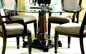glass pedestal dining table elegant top tables round