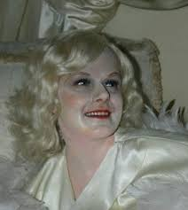 without the lighting you d think this was harlow s preserved corpse a little too much make up was applied to the figure