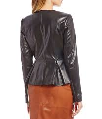 black jackets antonio melani luxury collection wren genuine leather