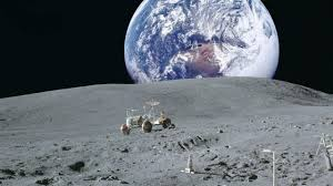 Earth From The Moon HD wallpaper