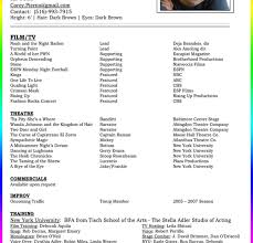 Stunning Sample Resume Musical Theater Ideas Entry Level Resume
