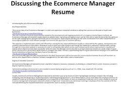 ecommerce resumes
