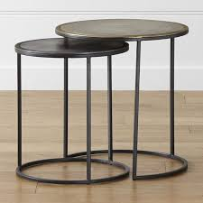 nesting tables. Knurl Nesting Accent Tables Set Of Two In End + Reviews | Crate And Barrel