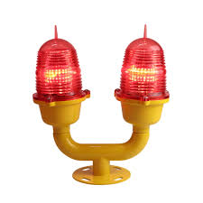 Led Tower Obstruction Lights Low Intensity Double Aviation Obstruction Light For Tower