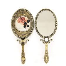 hand held mirror vintage. vintage folding carry on makeup mirror vanity handle handheld mirror-in mirrors from beauty \u0026 health aliexpress.com | alibaba group hand held t