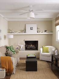 Great Small Living Room With Fireplace And Neutral Wall Colors