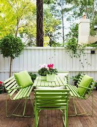 green outdoor furniture