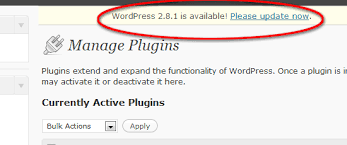 keep your wordpress installation up to date