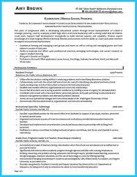 Excellent Resumes For Elementary School Principals Images Example