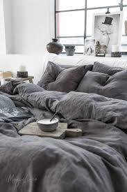 dark grey linen duvet cover magiclinen