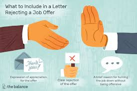 Rejecting An Offer Letter How To Decline A Job Offer With Letter Examples