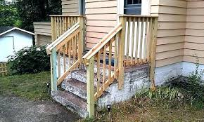 stair railing ideas for decks exterior handrails fantastic wood outdoor stairs design kits