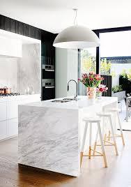 modern white kitchen island. White Marble Kitchen Island Modern E