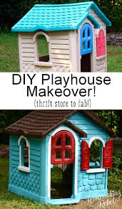 i m sure many of us have them the old drab looking playhouses that come in only certain colorost of them not very vibrant or lively