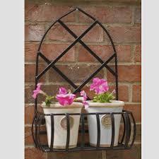 gothic garden steel wall planter made in britain