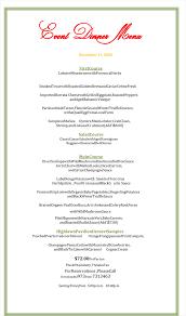dinner menu template plus printable menu designs holiday dinner menu template