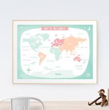 world map kids art print poster printspace mara girling wall art melbourne australia illustration graphic colour  on pastel wall art au with world map green art print printspace illustration contemporary