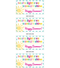 Summer Gift Tags This Little Light Of Mine Sunglasses Printable