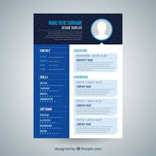 blue modern resume template download vector modern resume template vectorpicker