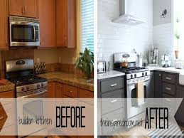 painting kitchen cabinets before and afterPainting Kitchen Cabinets Before After Brown Painted Kitchen
