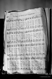 old hymn book church cades cove smoky mountains black and white