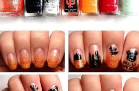 How To Create Candy Corn Nails Snapguide Nail Art Designs Short