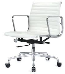 office chair eames. Eames Office Chair Style Aluminum Group In White Leather Desk .