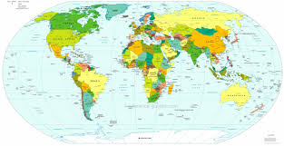 world geography map  pointcardme