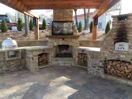 image of block outdoor fireplace plans