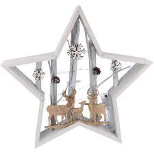 Details Zu Deko Weihnachtsstern Aus Holz Mit Led Beleuchtung Zu Weihnachten