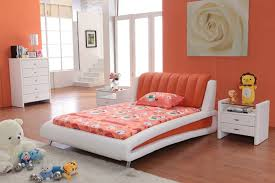 modern contemporary bedroom furniture fascinating solid. Marvelous Image Of Blue Orange Bedroom Design And Decoration Ideas : Fascinating Girl Modern Contemporary Furniture Solid R