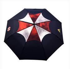 Mens cool umbrellas Resident Evil umbrella with Resident Evil logo