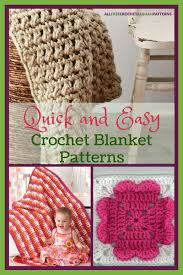 Quick And Easy Crochet Blanket Patterns Enchanting 48 Quick And Easy Crochet Blanket Patterns