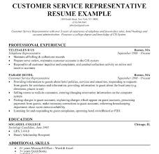 Sample Resume For Customer Service Extraordinary Resume Examples Customer Service Representative Foodcityme