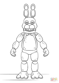 Fnaf Coloring Pages Bonnie Firstsportme