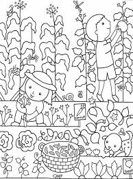 Kids Gardening Coloring Pages Free Colouring