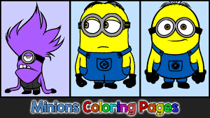 Minions Coloring Pages for Kids ▻ Minions Coloring Games ...