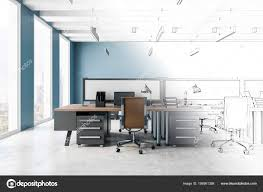 Modern office architecture design Private Office Sketch Modern Office Interior Architecture Design Concept Rendering Stock Photo Depositphotos Sketch Modern Office Interior Architecture Design Concept Rendering