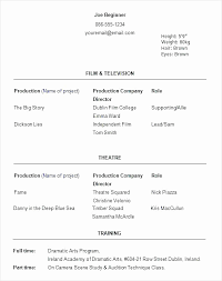 Theater Resume Template Unique Theatre Resume Template Google Docs Best Of Example Acting Resume