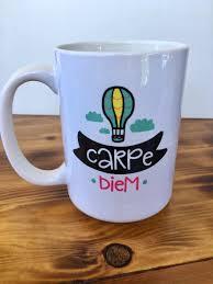 Loved this charming little coffee shop. Carpe Diem Ceramic Coffee Mug Shop Whole Lot Of Craft