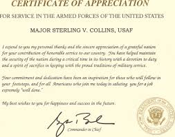 Retirement Letter Of Appreciation From The President How To