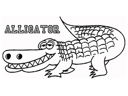 Small Picture Coloring Pages Animals Vector Illustration Of Cartoon Crocodile