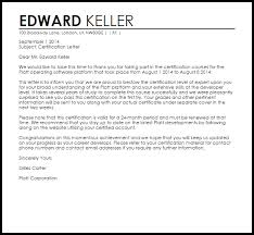 certification letter certification letter letters livecareer