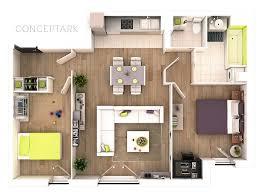 Overhead Bedroom Furniture 25 More 2 Bedroom 3d Floor Plans