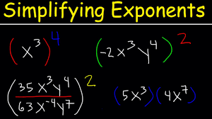 simplifying exponents with fractions variables negative exponents multiplication division math
