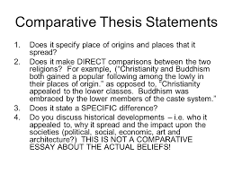 homework comparative essay explain the major similarities and  does it specify place of origins and places that it spread