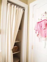 Image Ikea Organized Closet With Curtain Instead Of Small Doordid This To My Laundry Room And Love Itabout To Do It To My Closet Pinterest Projects For The Home Closet Curtains Diy Closet Doors Bedroom